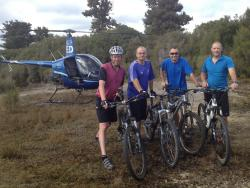 Heli biking Pureora timber trail